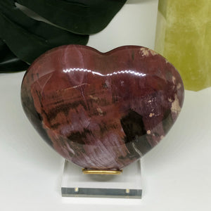 Petrified Wood Heart PWH106
