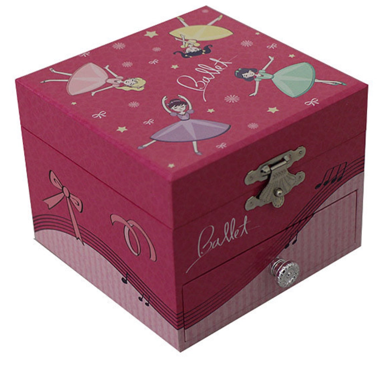 Pink Ballerina Musical Jewellery Box