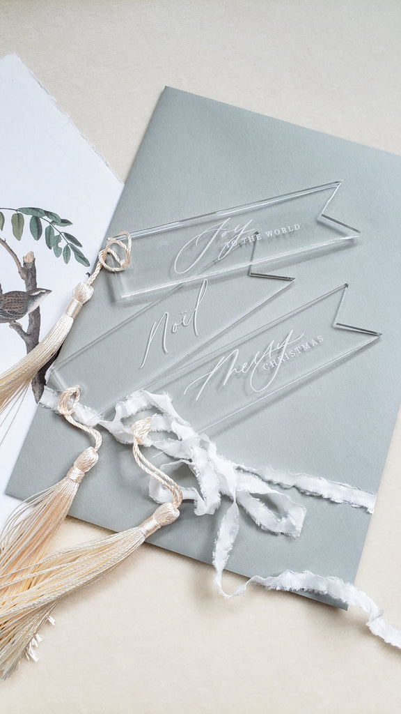KE Co. CLASSIC CALLIGRAPHY COLLECTION - PENNANT TAG SET