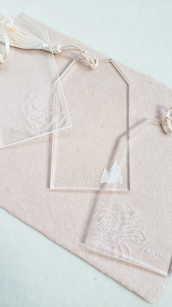 KE Co. WINTER GARDEN COLLECTION - CLASSIC GIFT TAG SET