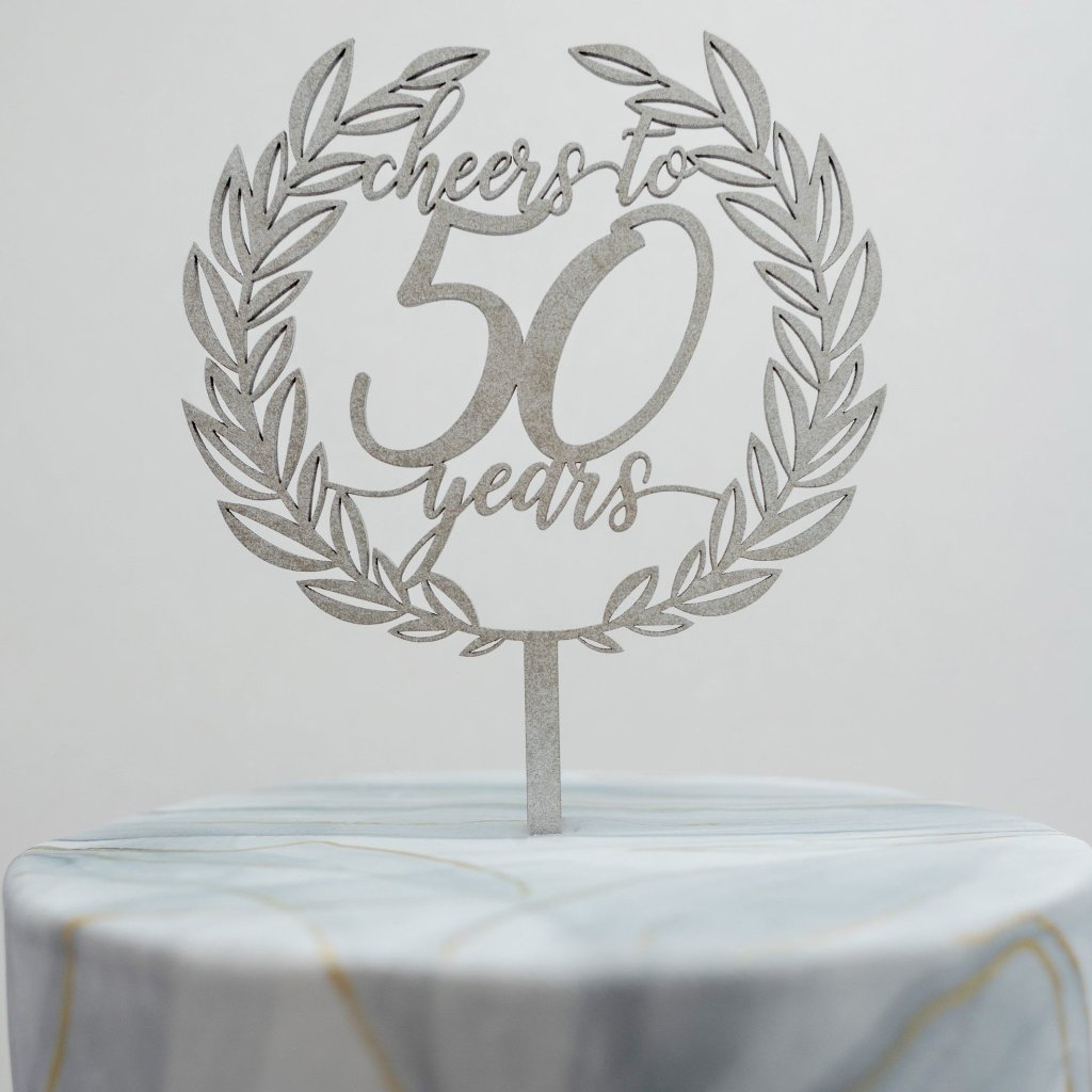 Cheers to the Years Cake Topper