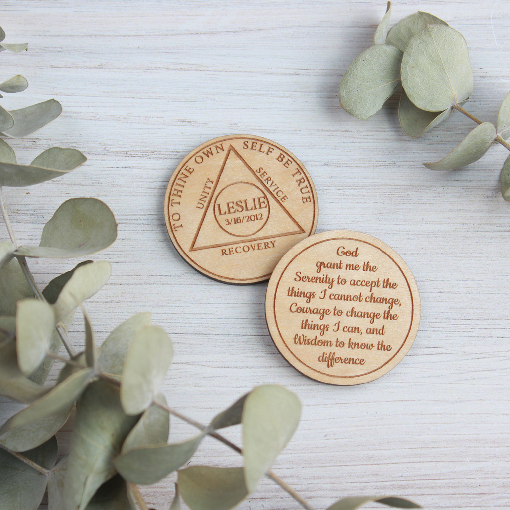 Personalized Recovery Anniversary Token