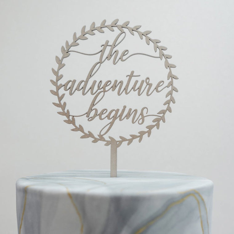 The Adventure Begins Cake Topper
