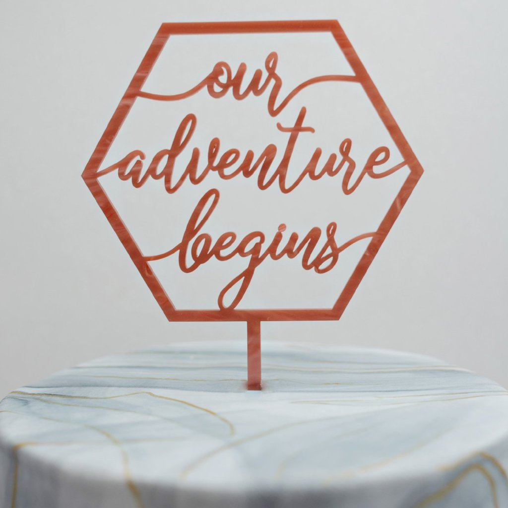 Geo Collection Our Adventure Begins Cake Topper