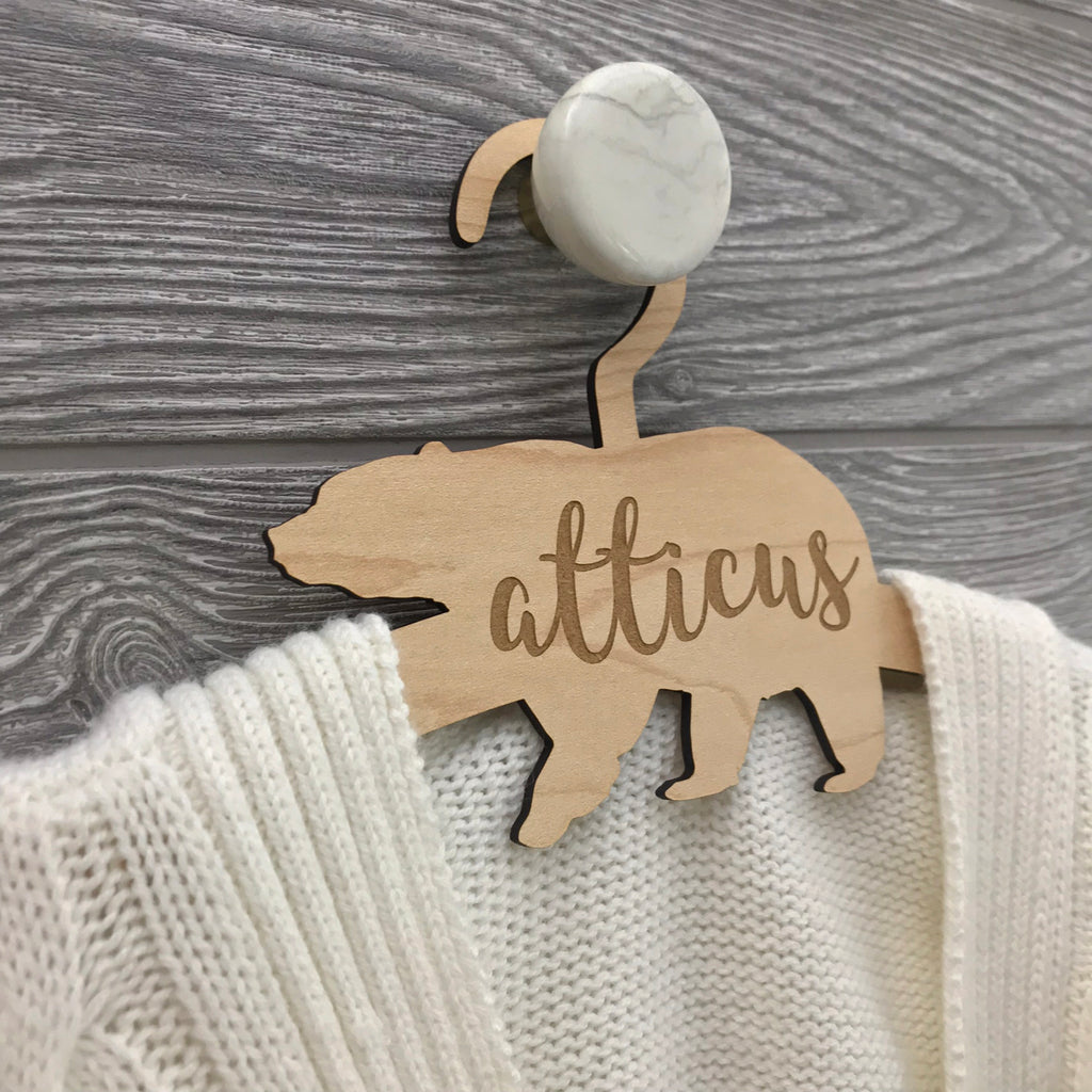 Personalized Bear Hanger