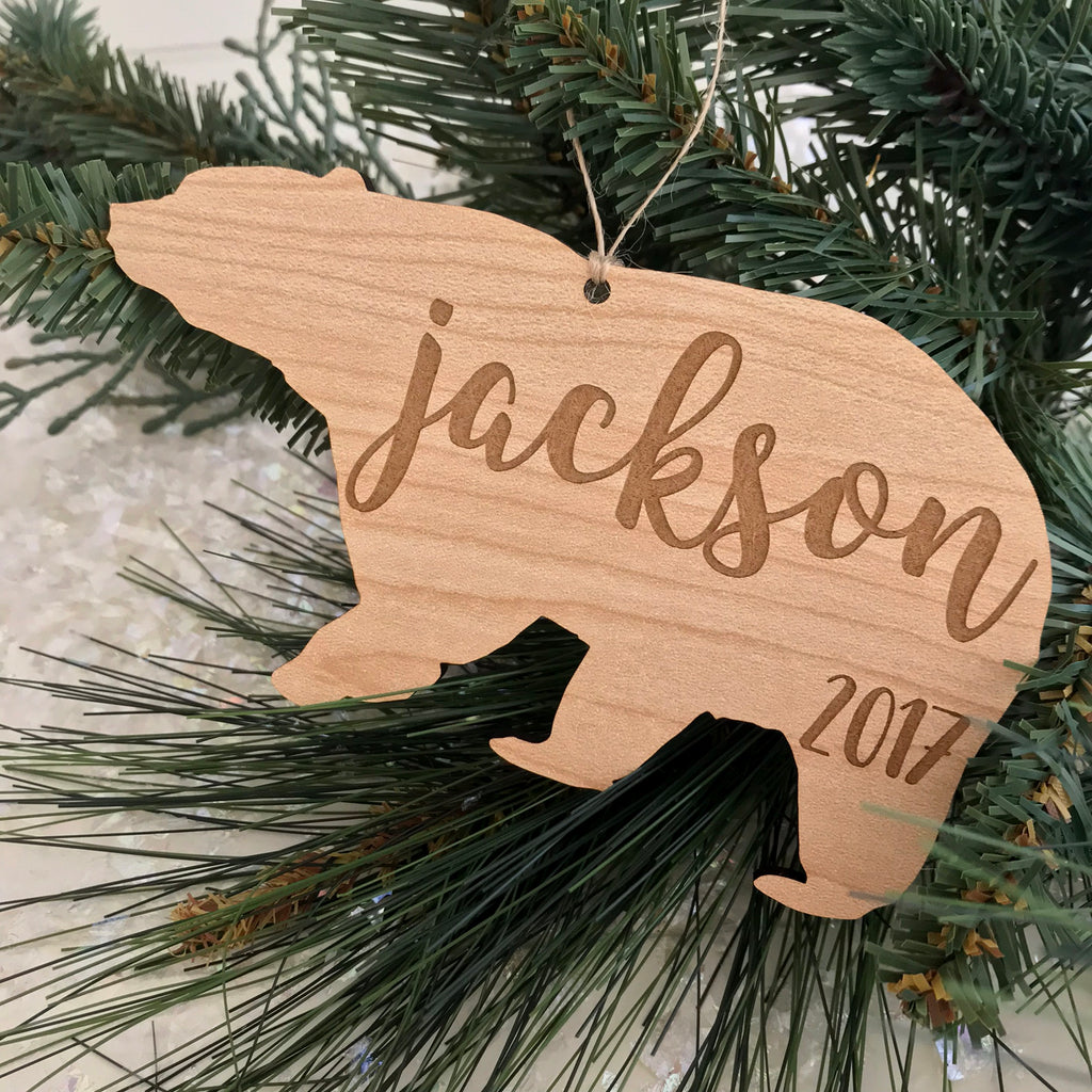 Personalized Bear Ornament