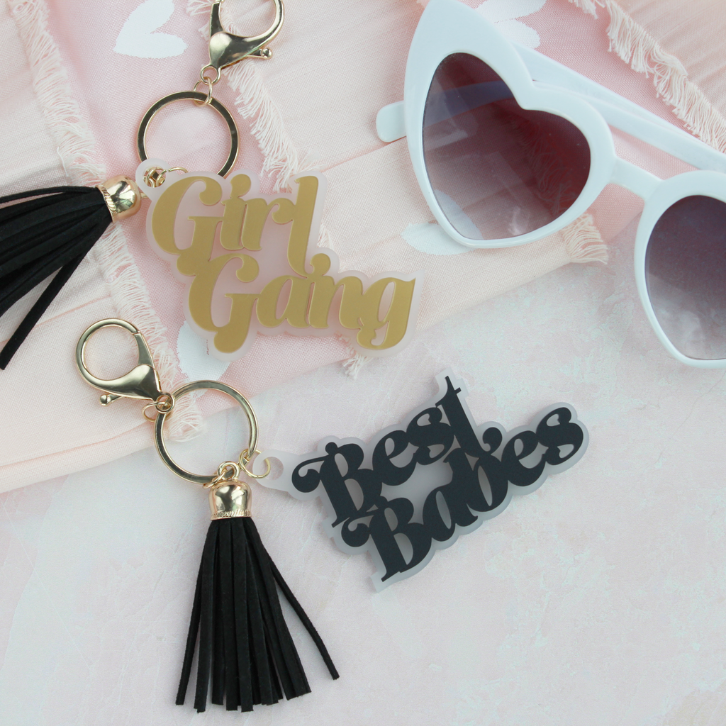 Best Babes/Girl Gang Tassel Keyrings