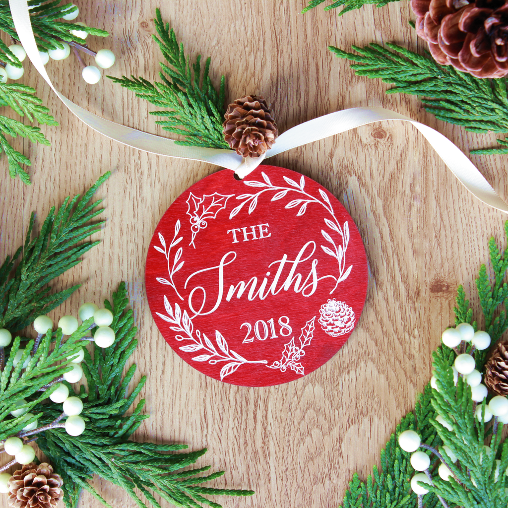Botanical Christmas Ornaments