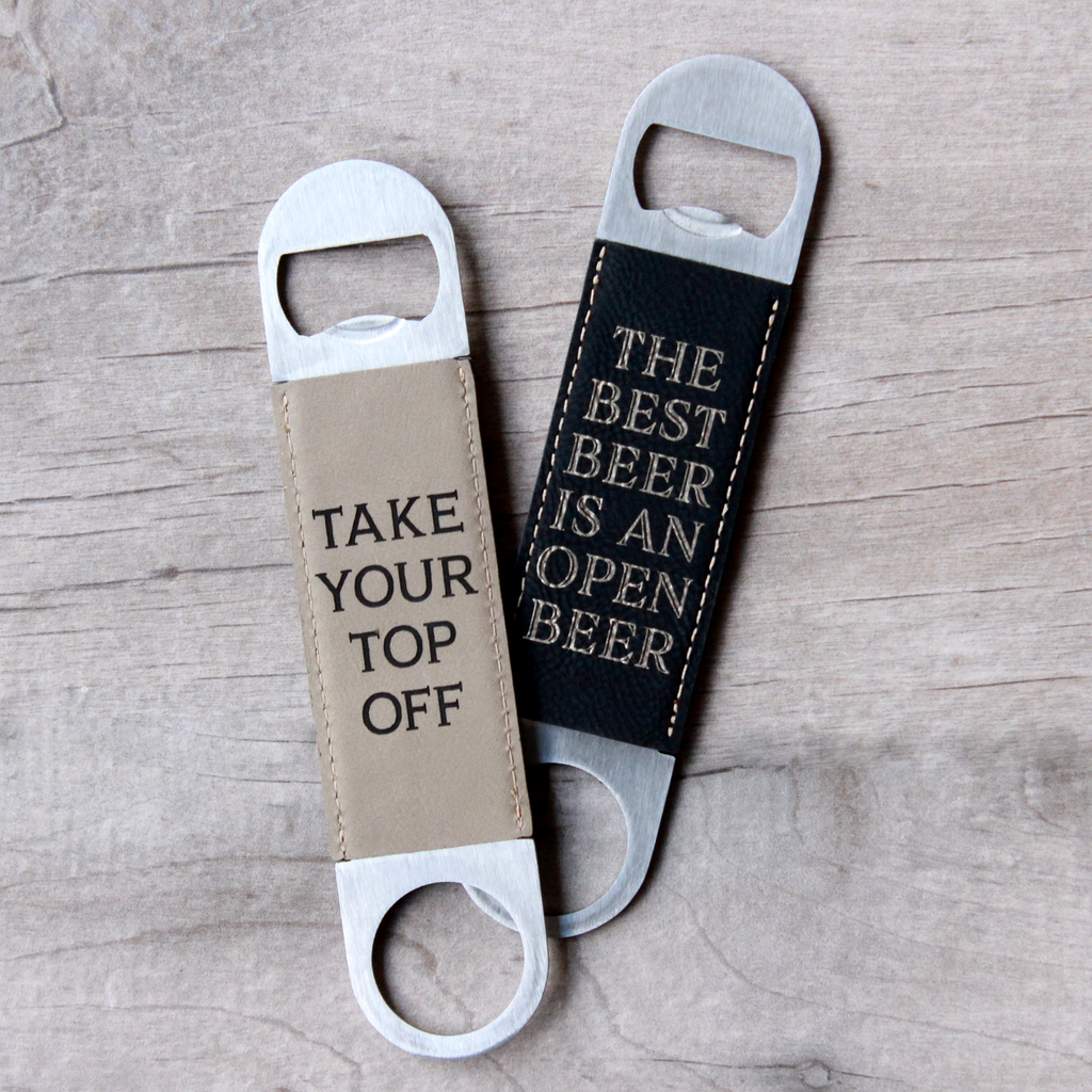 Monogrammed Dual-Sided Bottle Opener