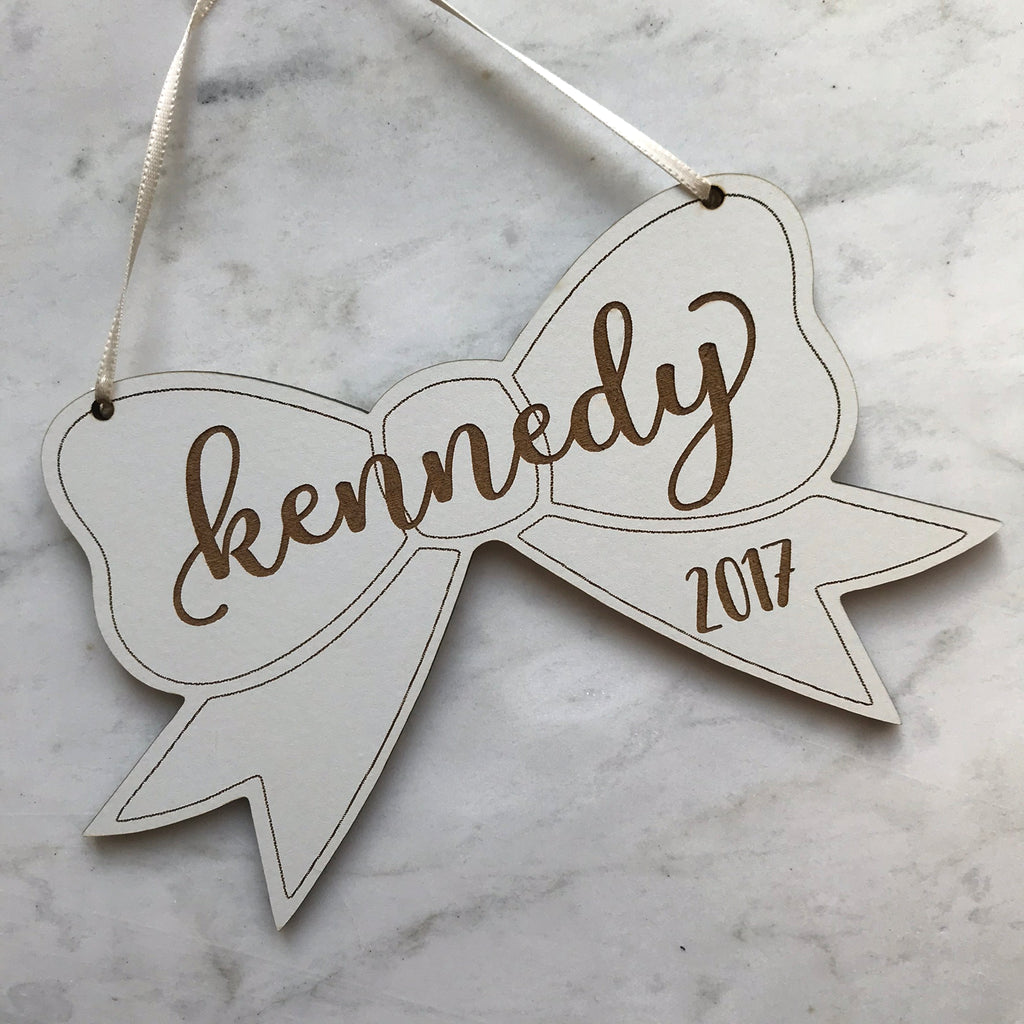 Personalized Bow Ornament