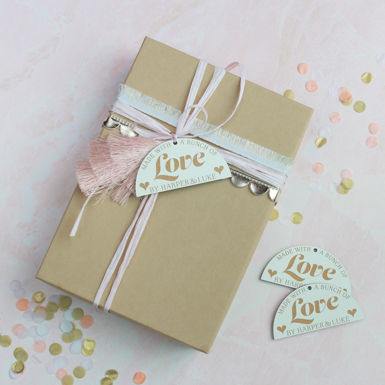 Made with a Bunch of Love Gift Tag Set