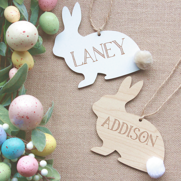 Bunny Basket Tags