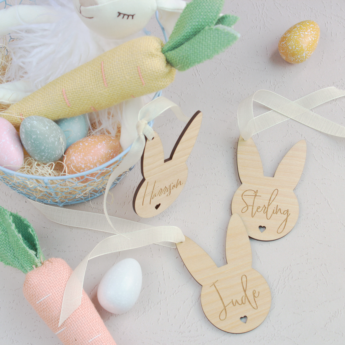 Honey Bunny Basket Tags
