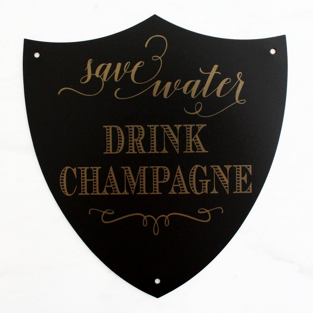 Champagne Mantra Plaque