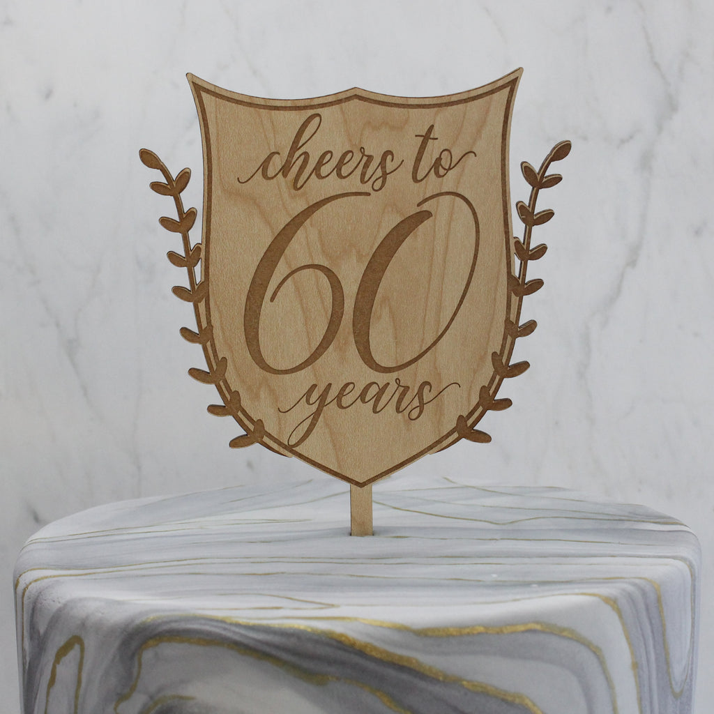Personalized Colette Crest Cake Topper