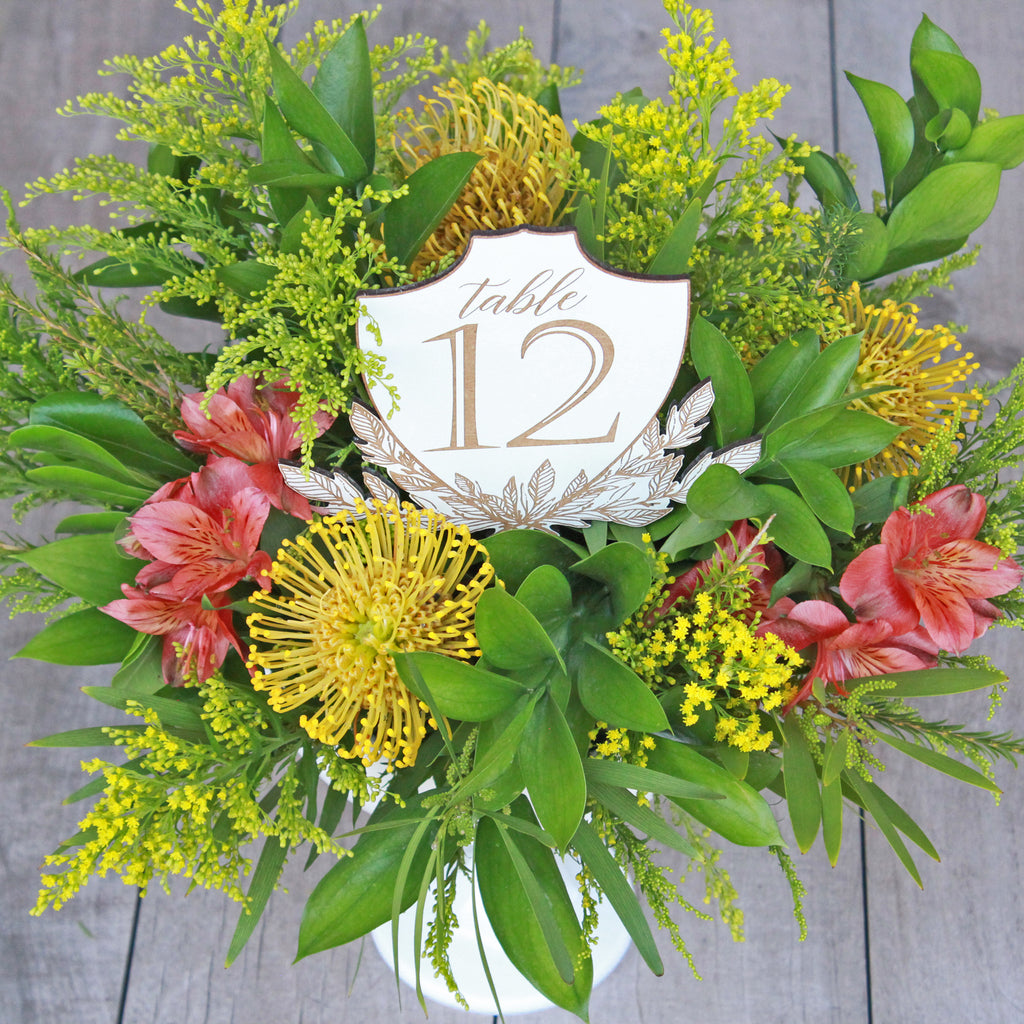 Crest Centerpiece Table Numbers
