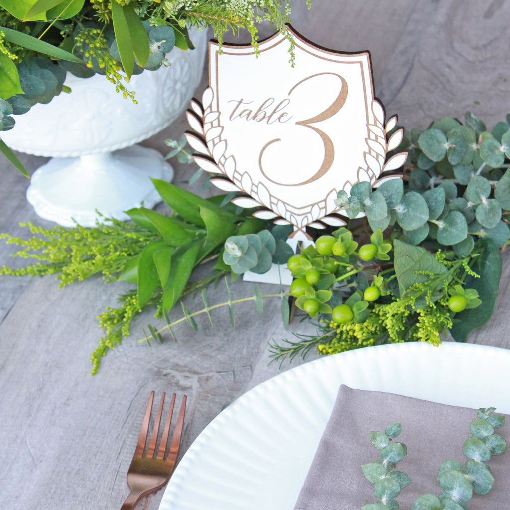 Crest Table Numbers