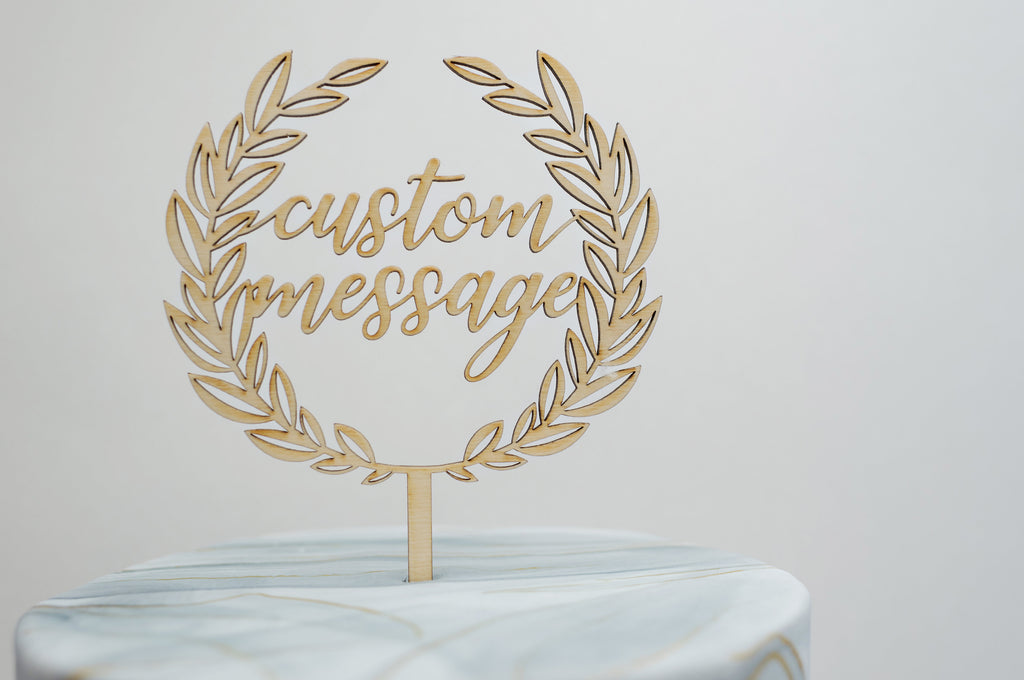 Custom Athena Laurel Cake Topper