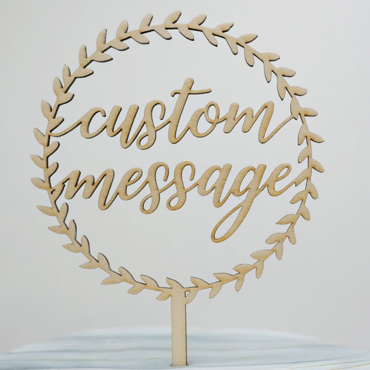 Custom Aveline Wreath Cake Topper