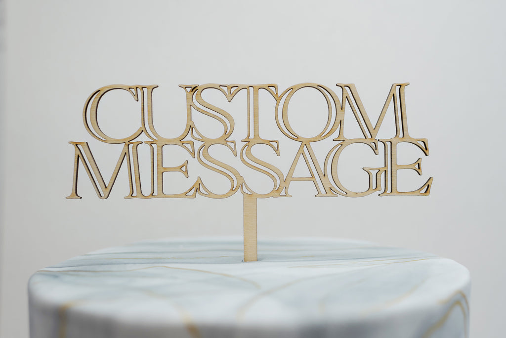 Custom Block Lettering Cake Topper
