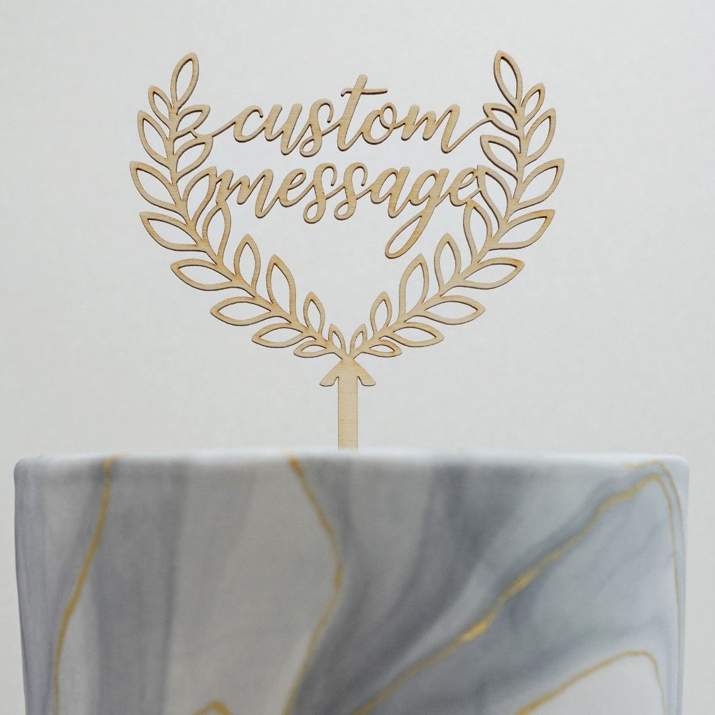 Custom Laurette Laurel Cake Topper