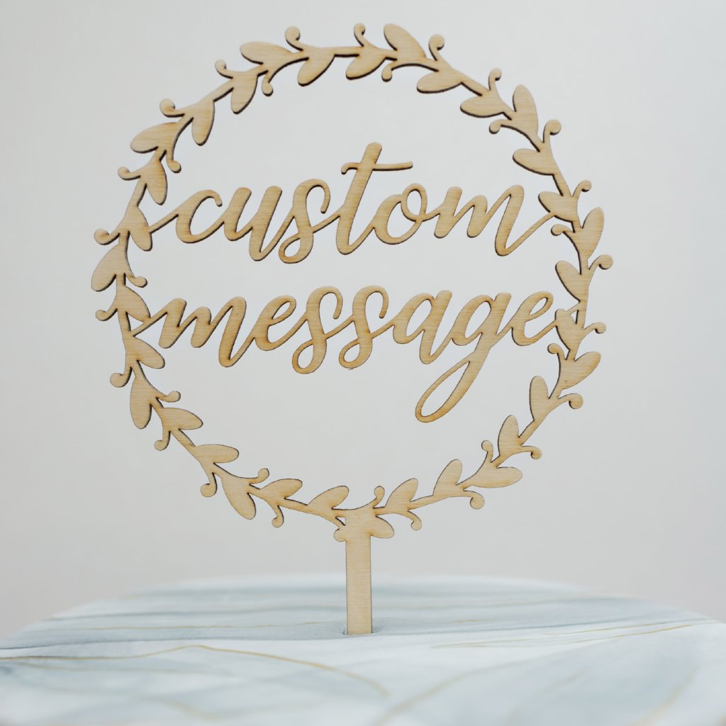 Custom Marielle Wreath Cake Topper