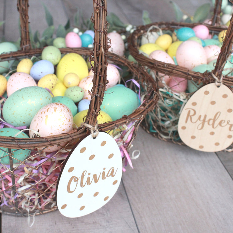 Easter Egg Basket Tags