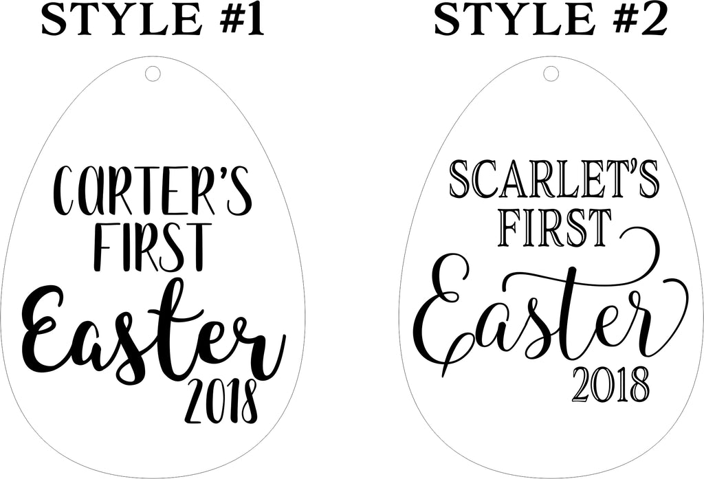 Baby's First Easter Basket Tags