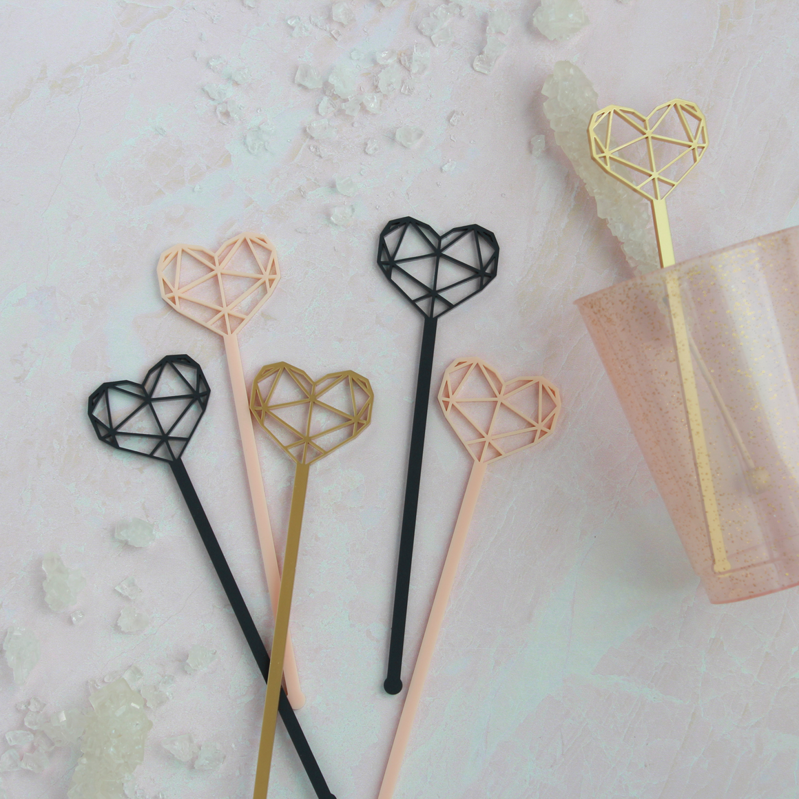 GEM HEART STIRRER SET