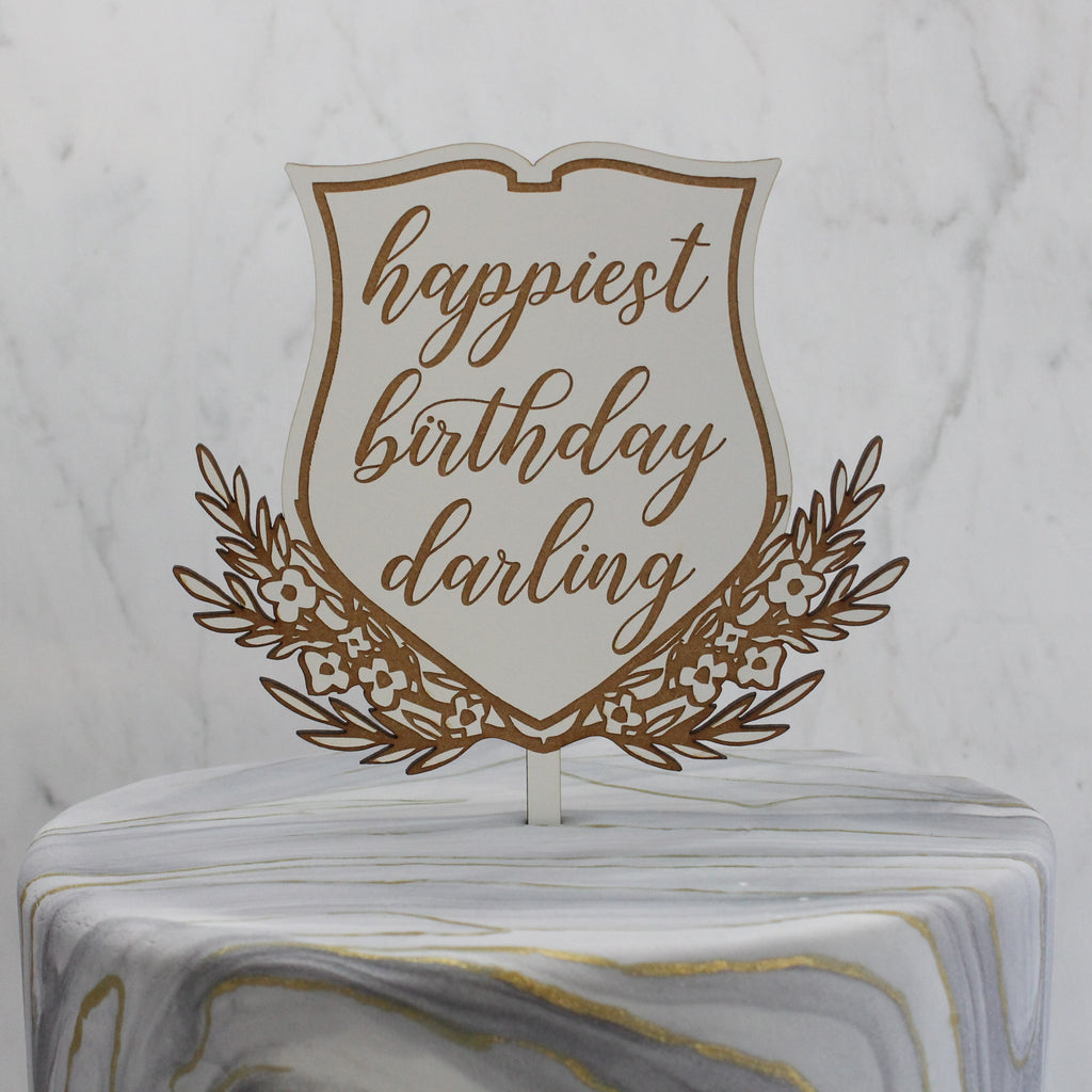 Personalized Gemma Crest Cake Topper