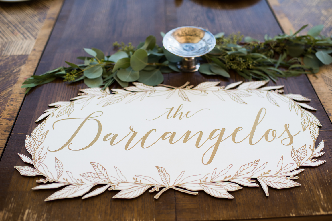 Head Table Sign - Nicolette Wreath