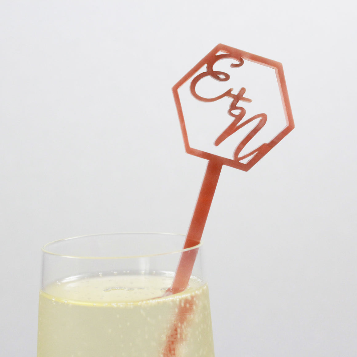 Geo Collection Custom Drink Stirrer