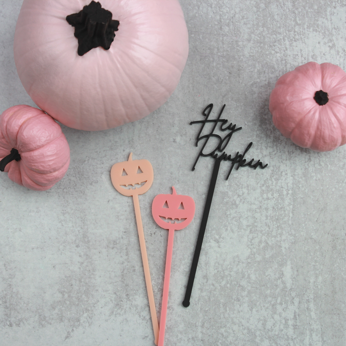 Hey Pumpkin Stir Sticks