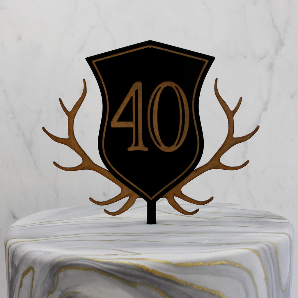 Personalized Kingston Crest Cake Topper