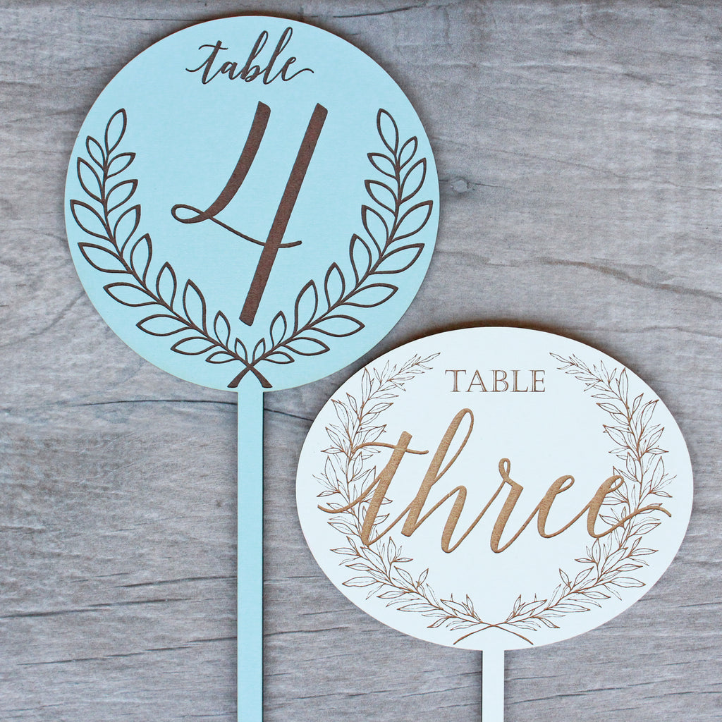 Laurel Centerpiece Table Numbers