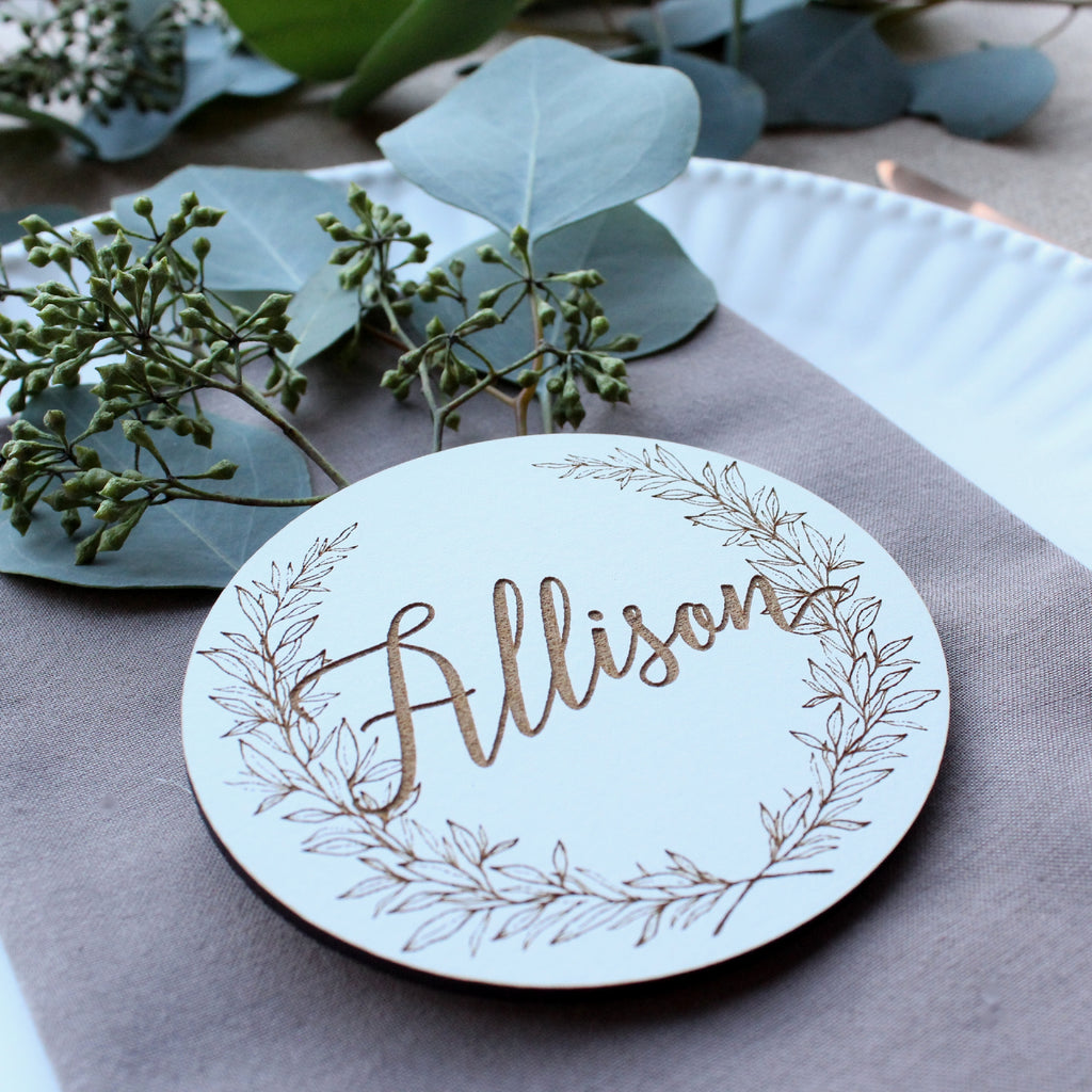 Laurel Place Cards
