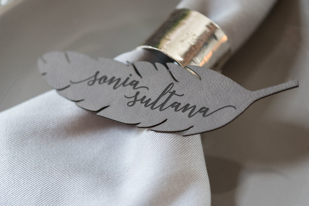 Feather Place Card
