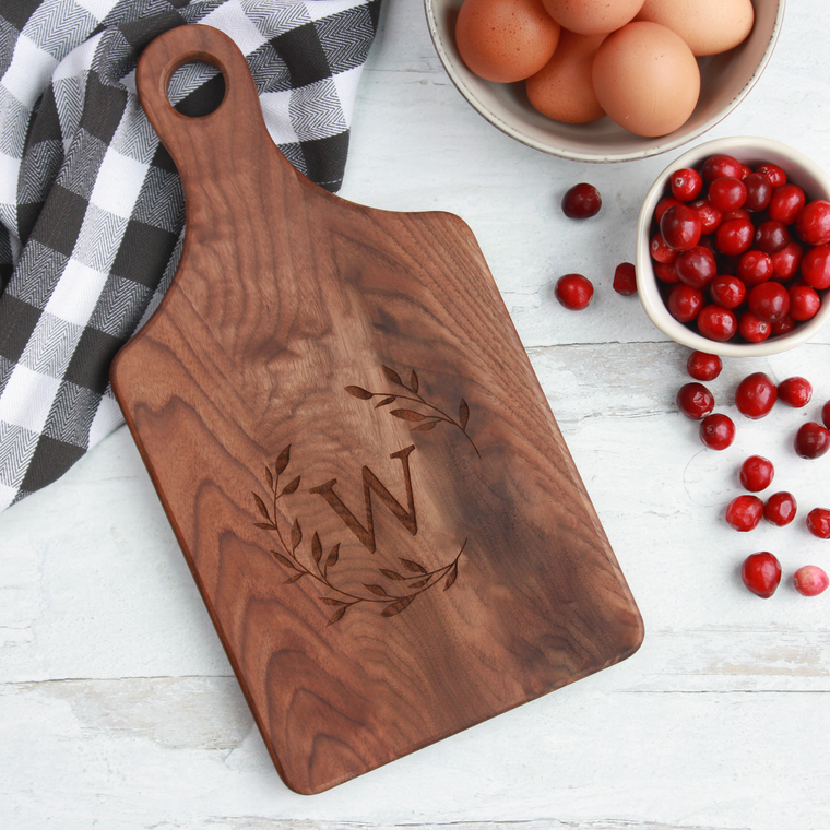 Engraved Paddle Cutting Board