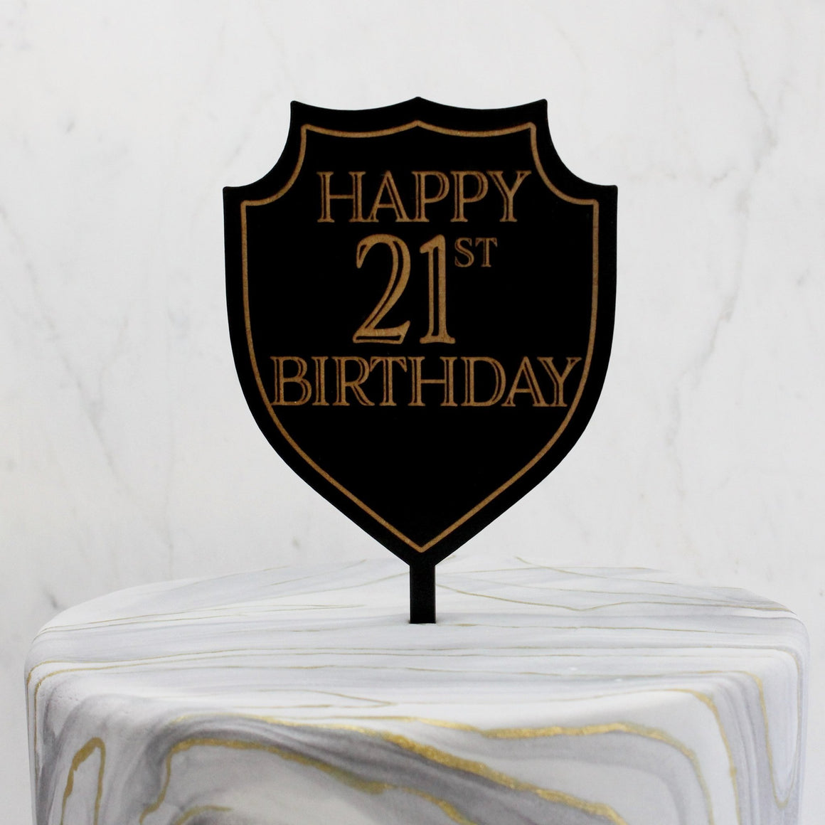 Personalized Porter Crest Cake Topper