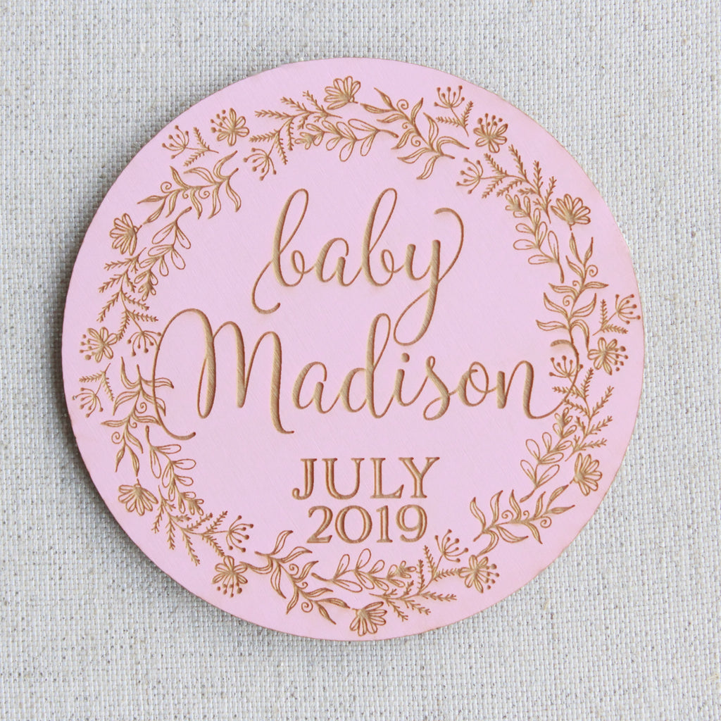 Pregnancy Announcement Plaque