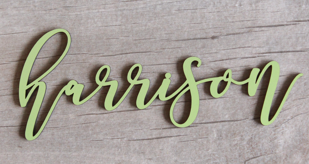 Custom Script Name Wall Hanging