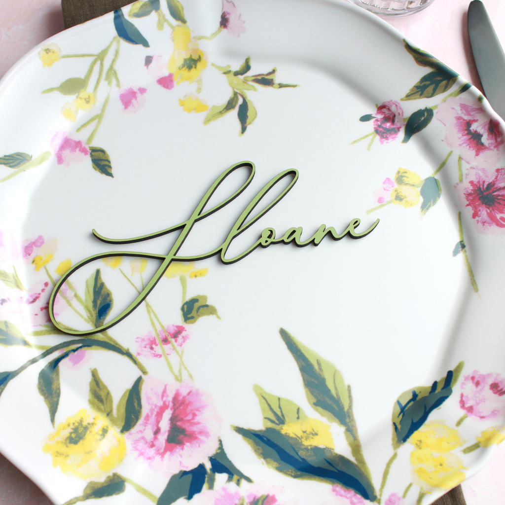 Spring Script Place Cards