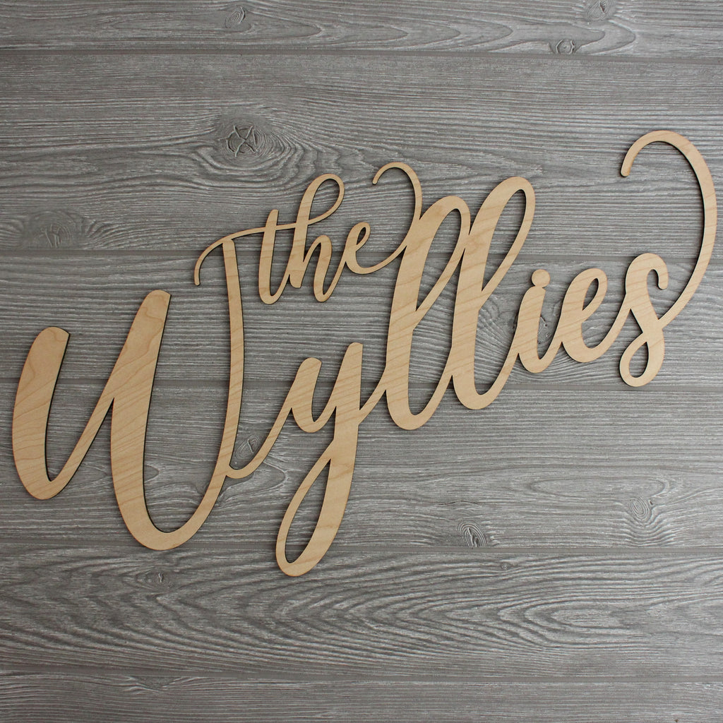 Custom Script Lettering Wall Plaque