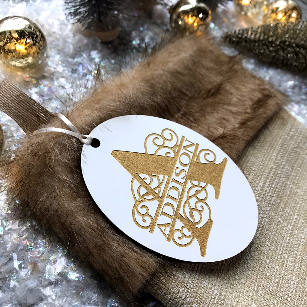 Iron Gate Monogram Stocking Tag
