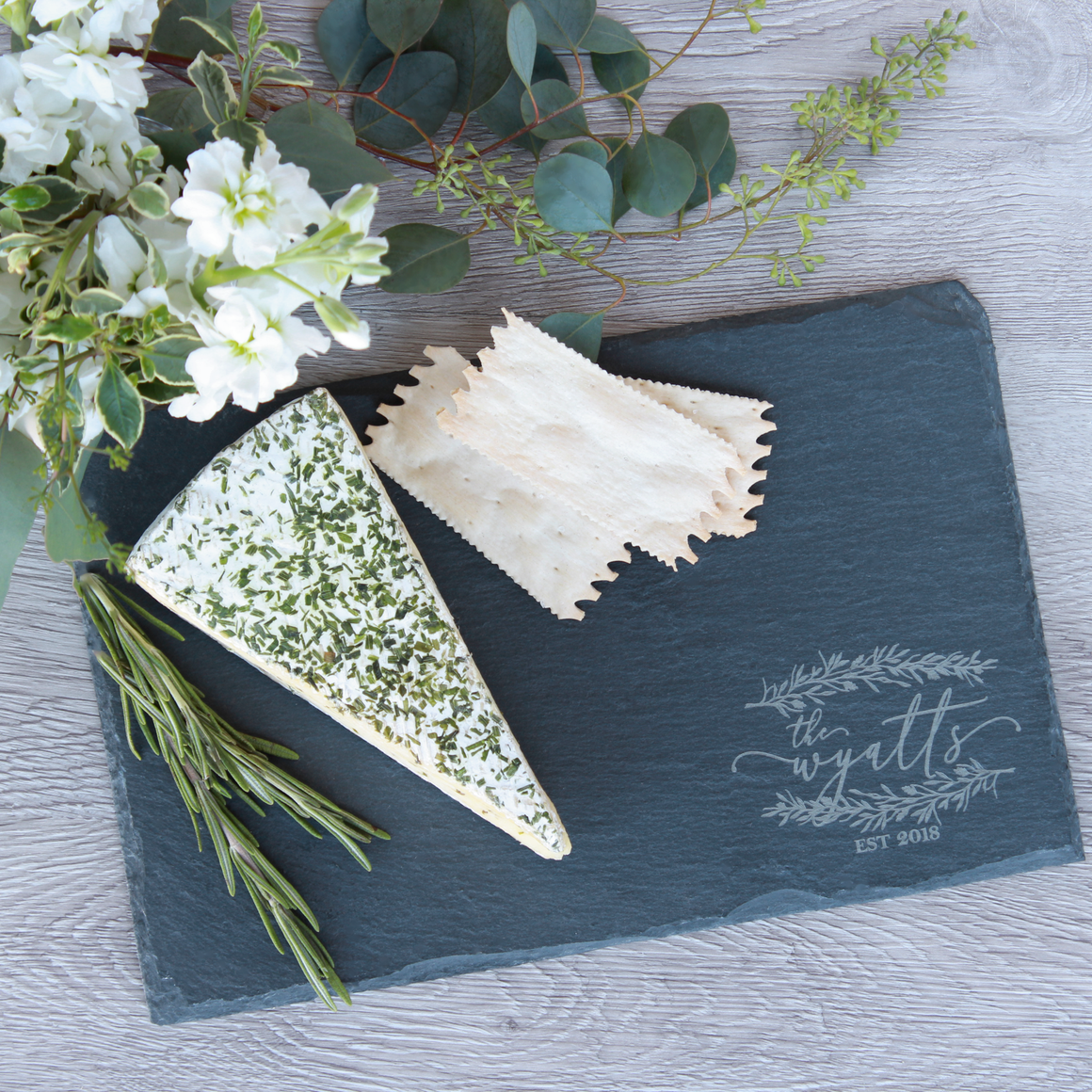 Rustic Slate Serving Tray