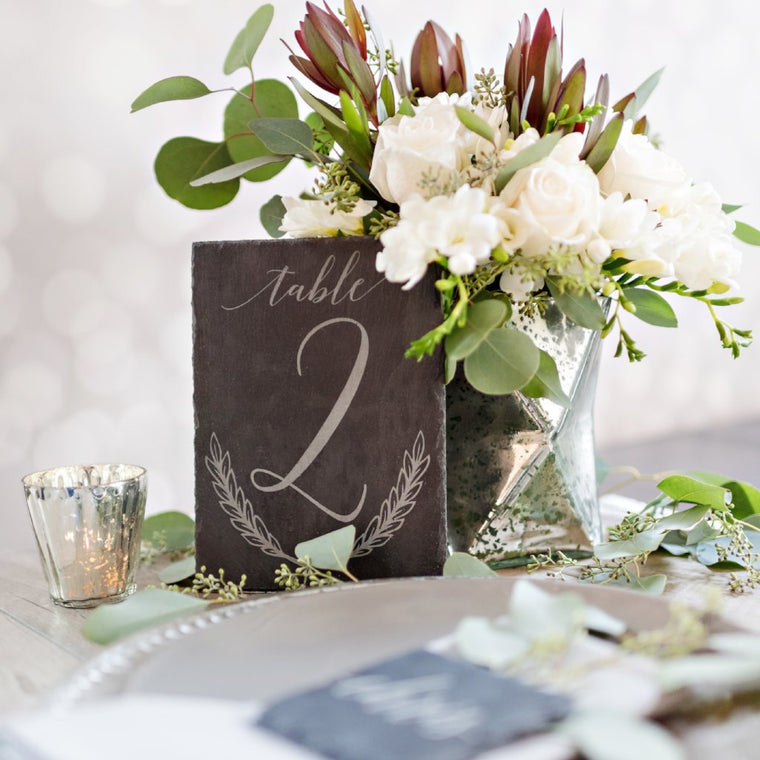 Engraved Slate Table Number
