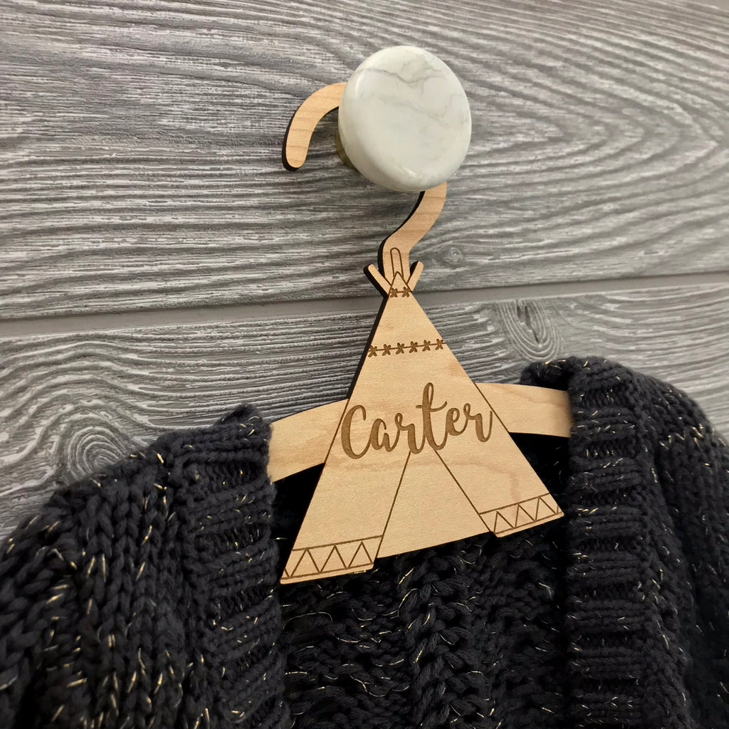 Personalized Teepee Hanger