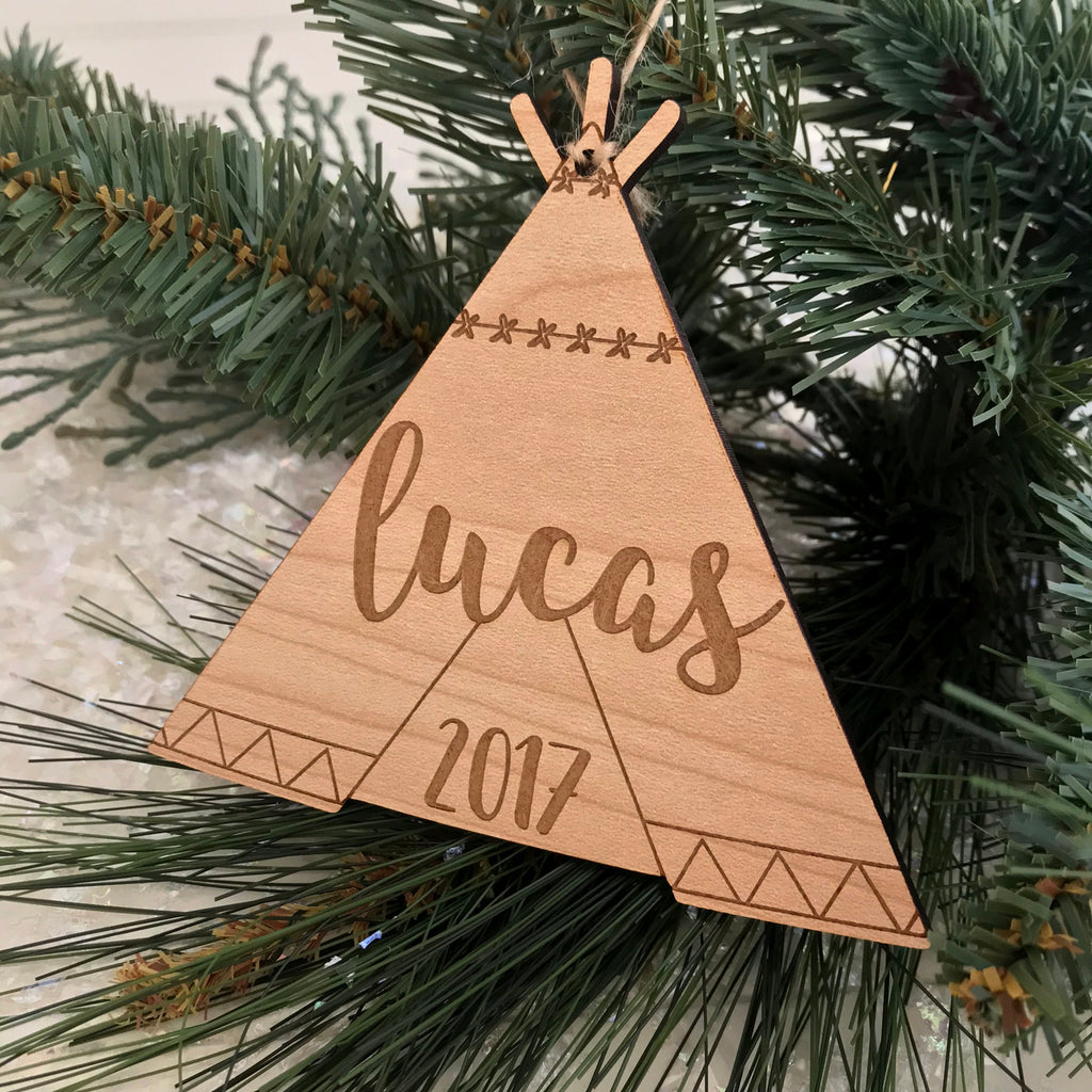 Personalized Teepee Ornament