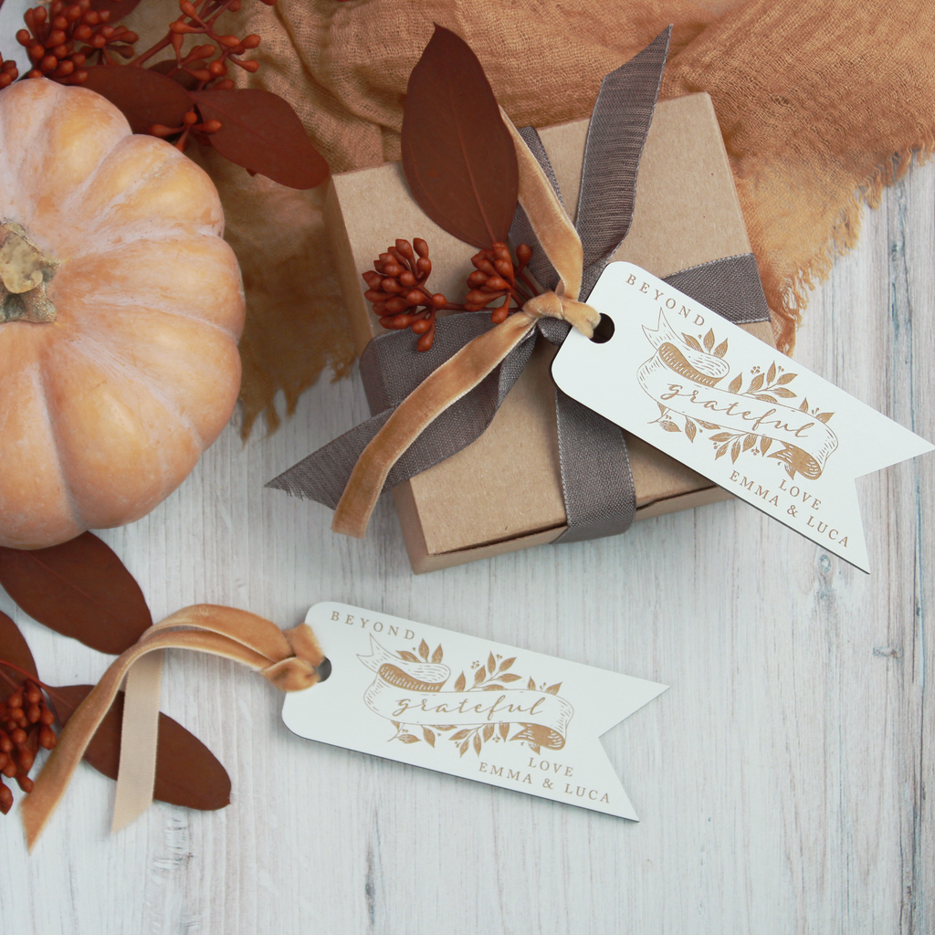 Harvest Banner Personalized Wood Tags