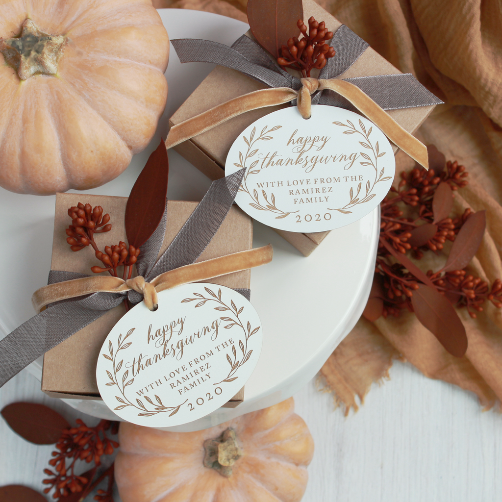 Autumn Laurel Personalized Wood Tags